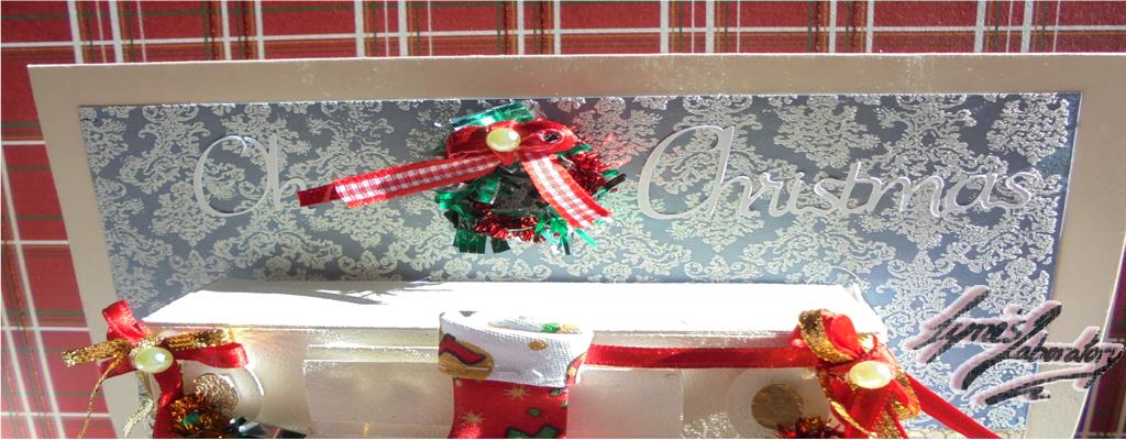 Tarjeta Chimenea Navidad